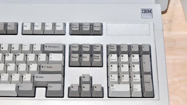 Die Tastatur des 5150 klickt nicht nur schön, sie ist auch ausserordentlich stabil: Jede Taste soll mehr als 100 Millionen Anschläge aushalten können.