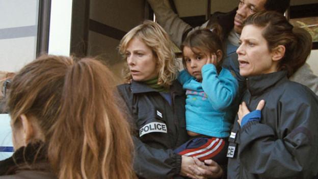 Nadine (Karin Viard), Fred (JoeyStarr) und Iris (Marina Foïs) im Einsatz.
