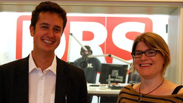 Nicola Forster und Franziska von Grünigen vor der Focus-Sendung.