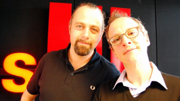 «Das war jetzt amüsant», meinten Kabarettist Michel Gammenthaler und Moderator Hannes Hug nach dem Gespräch.