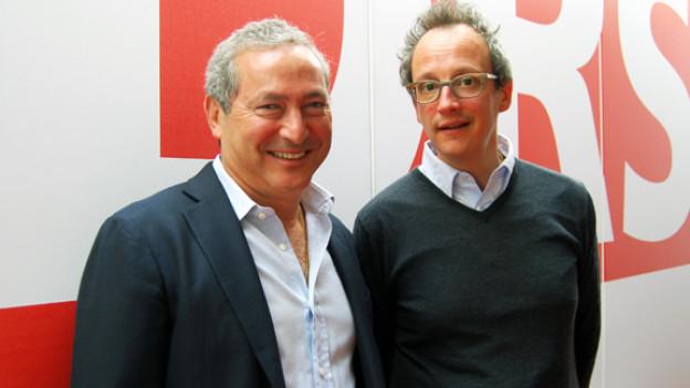 Focus-Gast Samih Sawiris und Moderator Hannes Hug