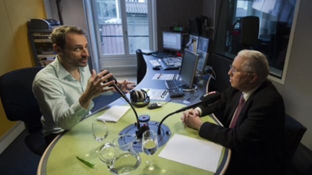 Blocher im Gespräch mit Dominic Dillier: «Meine Tochter wäre eine gute Politikerin.»