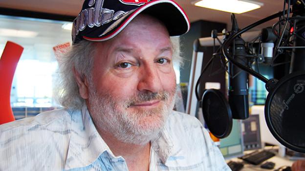 Peach WEber im Radiostudio Zürich.