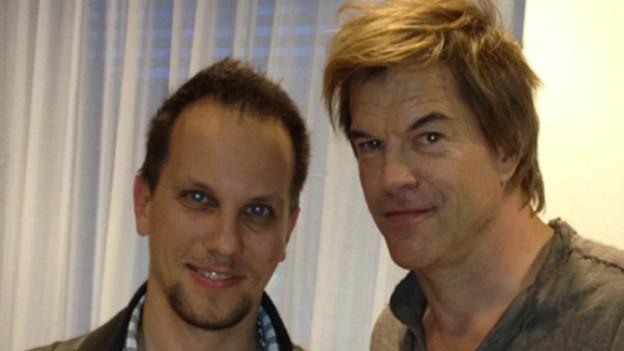 Hitparaden-Moderator Nik Thomi und Campino von den Toten Hosen.