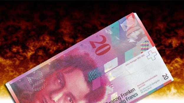 Wenn die Wirtschaft darbt, flüchten die Anleger in den Franken