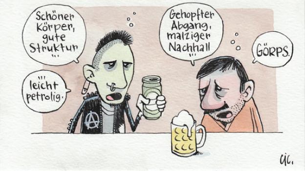 Die Karriere als Bier-Sommelier ist vorgezeichnet.