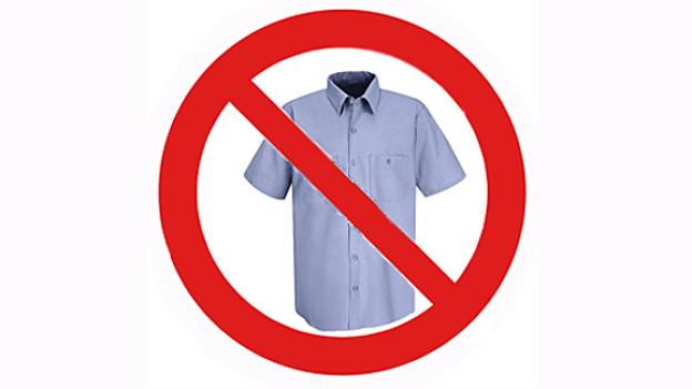 Nein zu Kurzarmhemden