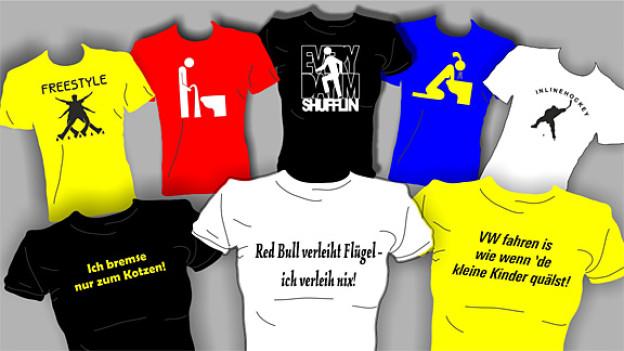 Meist nur mässig bis gar nicht lustig: «sauglatte»T-Shirts