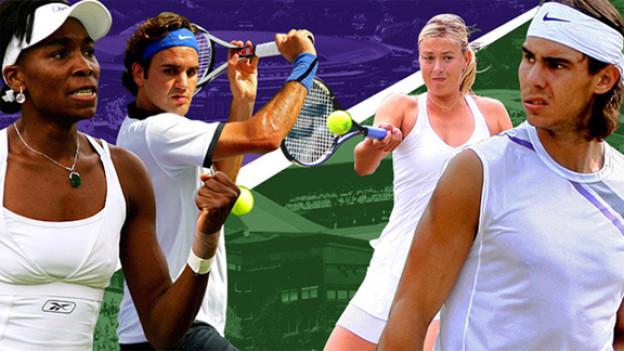 Auf dem heiligen Rasen von Wimbledon darf man zwar in der Hitze des Gefechts Grimassen machen, aber in Sachen Dresscode gilt unerbittlich: weiss, weiss, weiss....