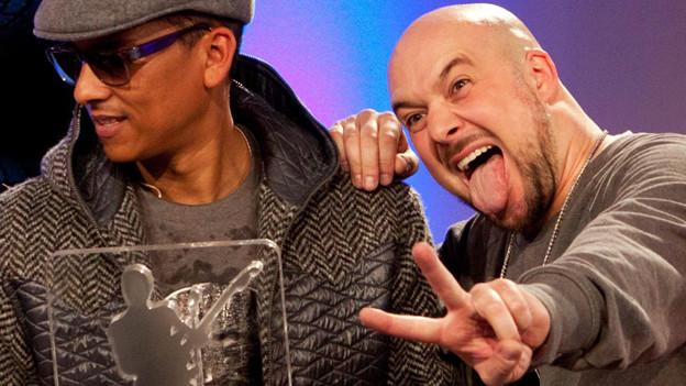 Geblödel unter Freunden: Xavas nach ihrem Sieg am Bundesvision Song Contest 2012.