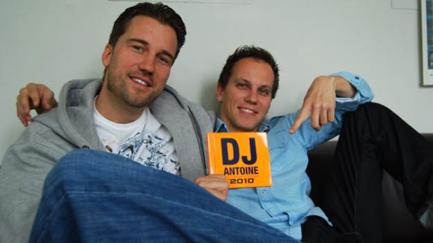 DJ Antoine und Hitparaden-Moderator Nik Thomi