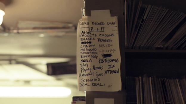 Aussterbende Gattung: Liste der geschlossenen Plattenläden im Londoner In-Viertel Soho.