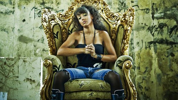 Lynn Fattouh alias Malikah trohnt über der Rap-Szene Beiruts.