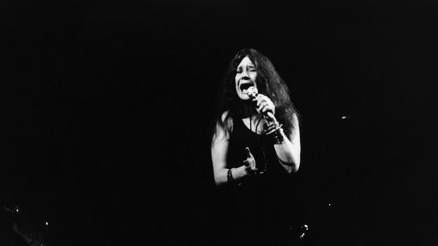 Janis Joplin bei einem Auftritt 1969.