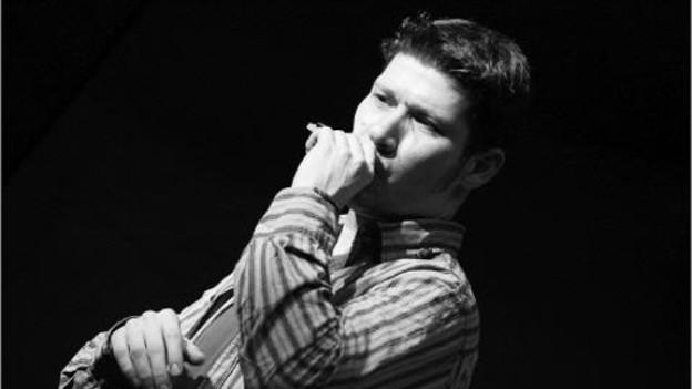 «Walt» Baumgartner, Sänger und Mundharmonika-Spieler von «Walt's Blues Box».