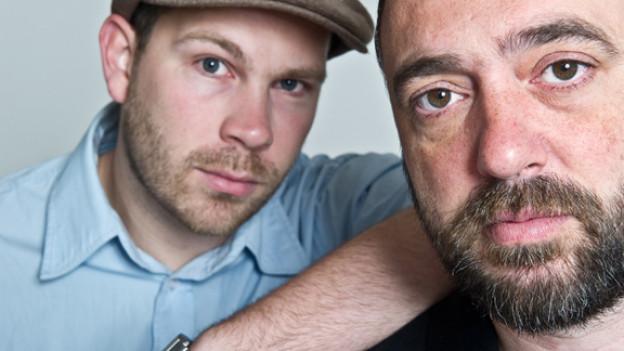 MC Joscha Hoffmann mit «Selector» Oliver Schrader von «Silly Walks Discotheque»
