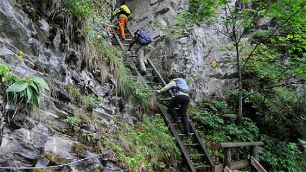 Auf den wilden Treppen zwischen Albinen und Leukerbad.
