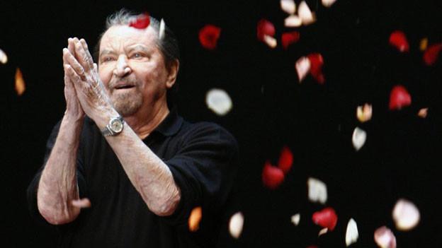 Maurice Béjart (1927-2007) bei der Feier seines 80. Geburtstags in Lausanne.