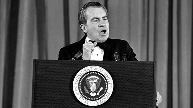 Richard Nixon bei einer Rede 1973.