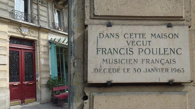 An der rue de Medicis, gleich beim Jardin de Luxembourg, lebte einst Francis Poulenc.