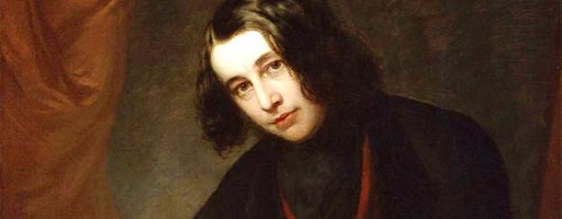 Porträt von Charles Dickens in Boston, 1842.