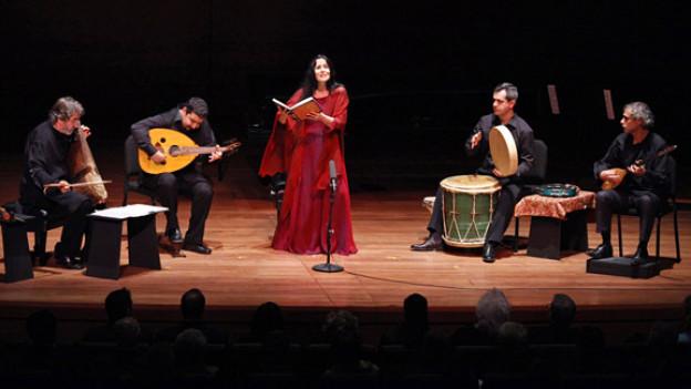 Montserrat Figueras bei einem Auftritt im Jahr 2009.