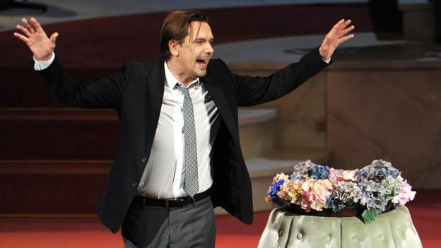 Michael Maertens in der Rolle von «Alceste» in «Der Menschenfeind» am Schauspielhaus Zürich.