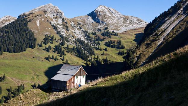 Eine abgelegene Berghütte ist der Schauplatz von «Der Zusenn oder das Heimat»