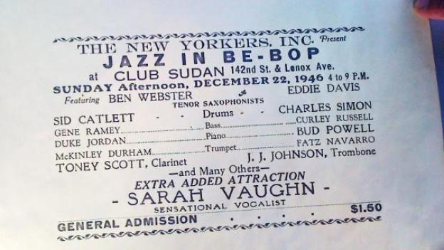 Originalplakat: Toney Scott trat 1946 in New York auf.