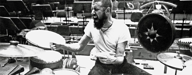 Entfesselt: Han Bennink am NDR-Jazzworkshop um 1970.
