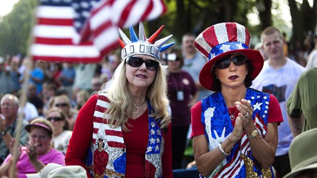 Tea-Party-Aktivistinnen an einer Kundgebung in Washington, August 2010.