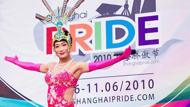 Dragqueen auf Abschlussparty der Shanghai-Pride 2010