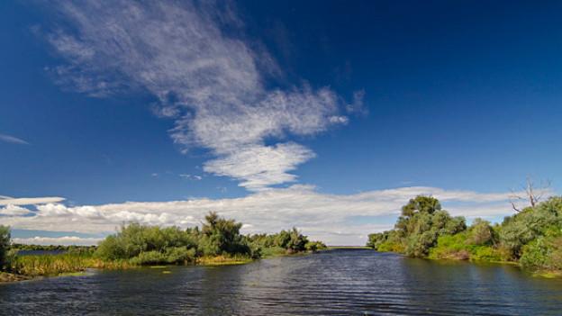 Der Sireasa-Kanal im Donaudelta.