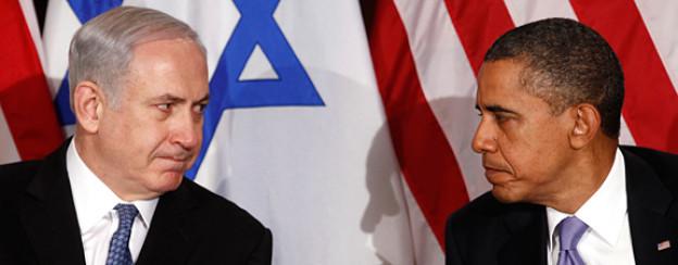 Benjamin Netanyahu, Ministerpräsident von Israel und US-Präsident Barack Obama bei einem Treffen in New York, September 2011.