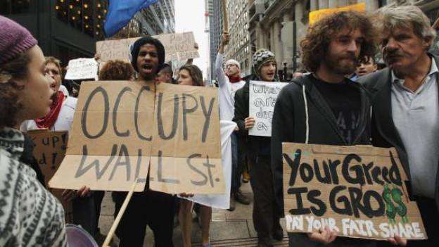 Protestbewegung «Occupy Wall Street» in den Strassen von New York.
