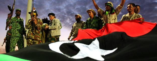 In Libyen feiern Gegner von Ghadhafi feiern ihren Sieg.