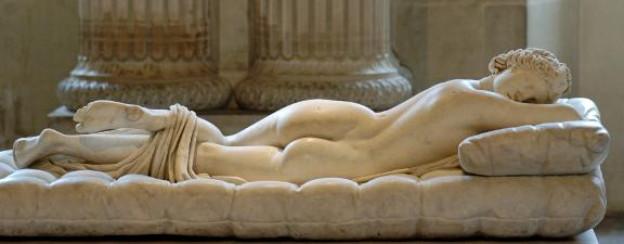 Nicht Mann, nicht Frau: Hermaphroditos, eine Gestalt aus der griechischen Mythologie.