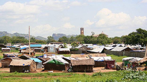 Häuser in Juba, Sudan.