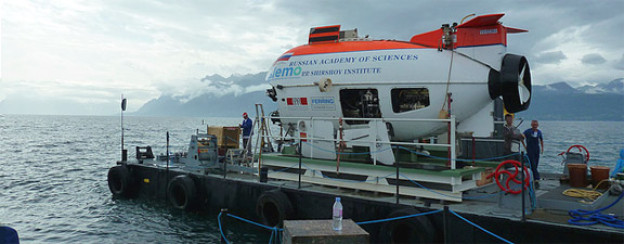 Kurz vor dem Tauchgang: U-Boot auf dem Genfersee.