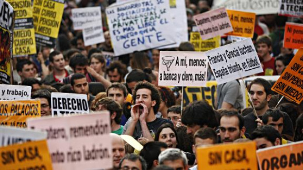 Proteste in Spanien.