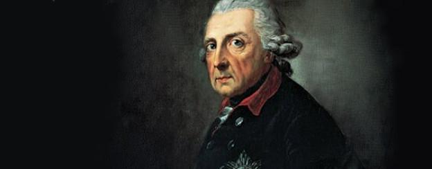 Friedrich ll. von Preussen im Alter von 68 Jahren.