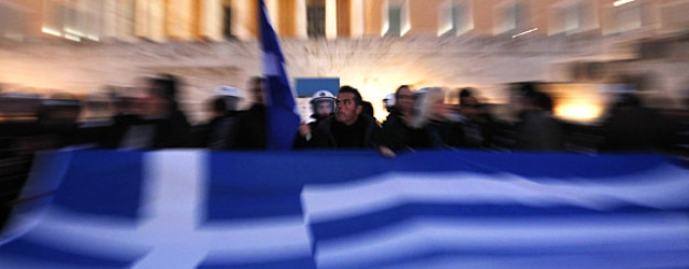 Es brodelt weiter: Demonstranten vor dem griechischen Parlament, Februar 2012.