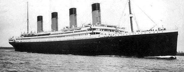 Die «Titanic» am 10. April 1912 im Hafen von Southampton.