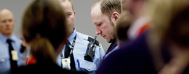 Anders Behring Breivik im Gerichtssaal in Oslo.