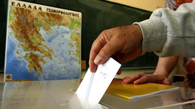 Was ist die Stimme wert? Ein Wahlbüro in Griechenland.