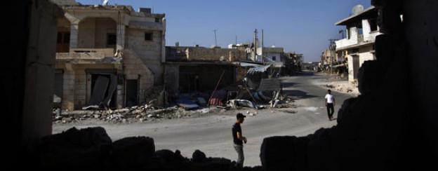 Die syrische Stadt Aleppo ist gezeichnet von den Strassenkämpfen zwischen Rebellen und der Armee