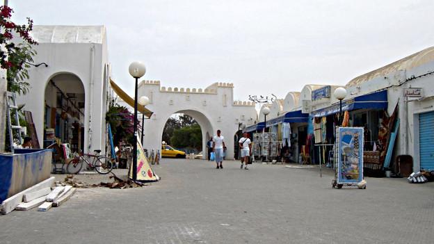 Der Marktplatz der tunesischen Stadt Zarzis.
