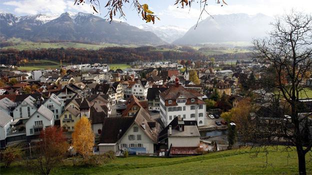 Der Kanton Obwalden - im Bild Sarnen - hat als erster Alarm geschlagen: Man wolle nicht weiter wachsen, die zunehmende Bevölkerung beeinträchtige die Lebensqualität zu stark.