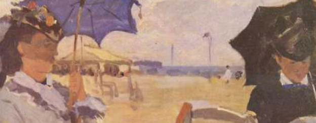 Claude Monet: Am Strand von Trouville (1870).