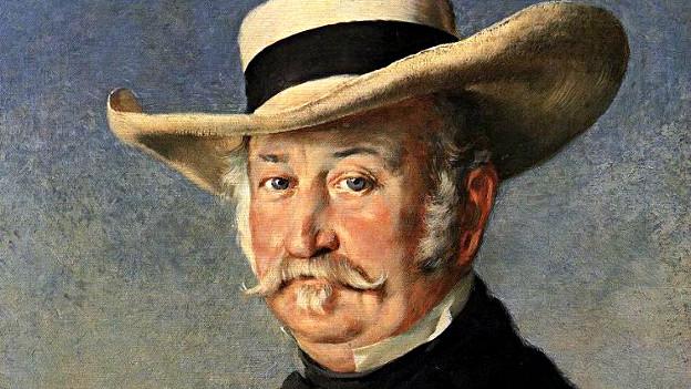 Johann August Suter, porträtiert von Frank Buchser (1866).